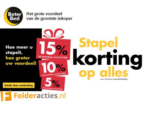 Beter Bed Stapelkorting folderacties.nl