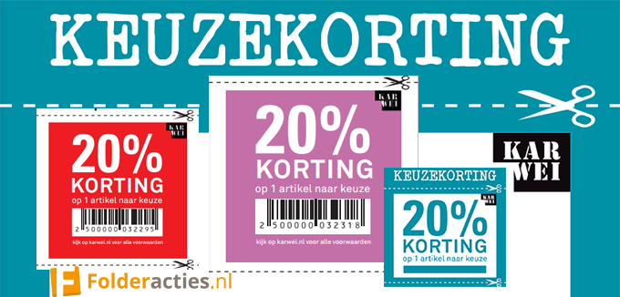 Karwei keuzekorting folderacties.nl