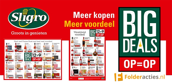 Sligro Big Deals Folderacties.nl