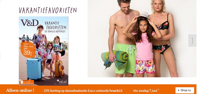 V&D vakantie favorieten folderacties.nl