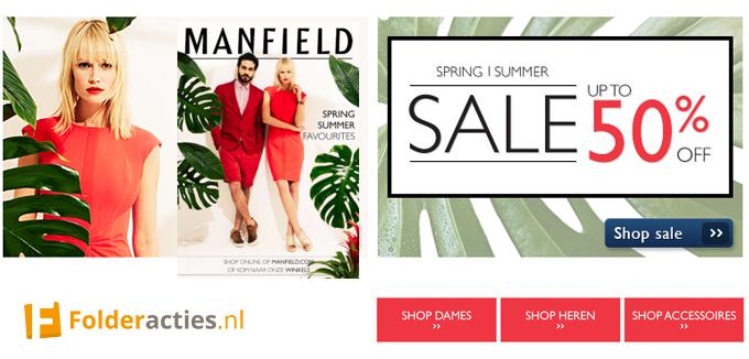 Manfield Sale folderacties.nl
