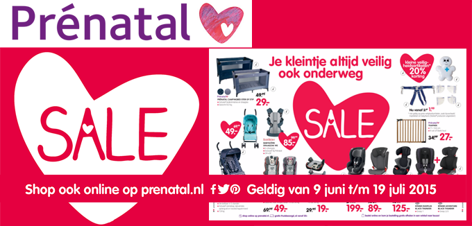 Prénatal Sale folder folderacties.nl