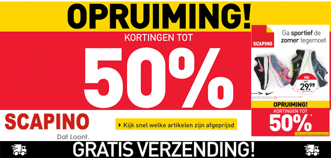 01604a95922 Scapino Opruiming: tot 50% korting in de outlet en de folder