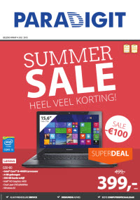 Paradigit Summer Sale folder geldig tm 19 juli 2015