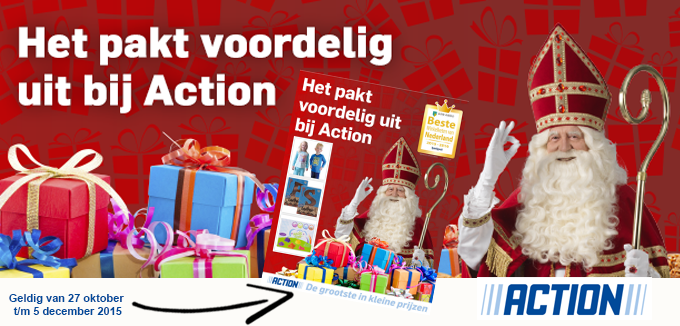 Action Sinterklaas folder folderacties.nl