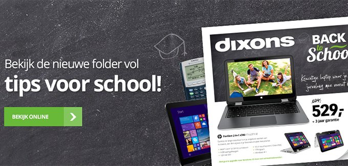 Dixons Back to School folderacties.nl