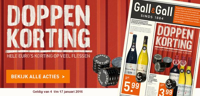 Gall&Gall doppenkorting januari 2016 folderacties.nl