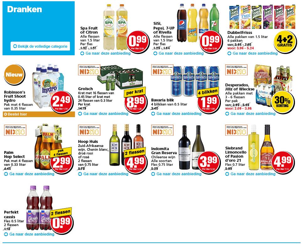 Hoogvliet prijskrakers dranken aanbiedingen