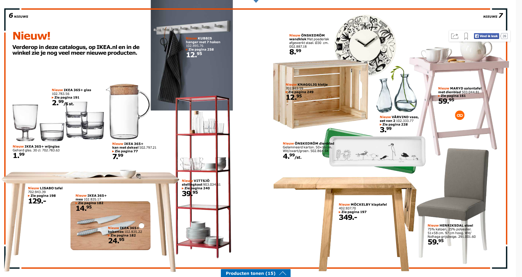 Nieuw in de IKEA 2016 catalogus