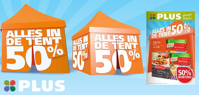 Plus alles in de tent 50 folderacties.nl