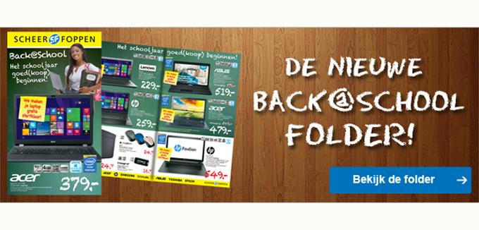 Scheer en Foppen Back@School folder folderacties.nl