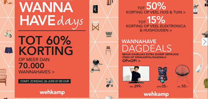 Wehkamp Wannahave days 2016 folderacties.nl
