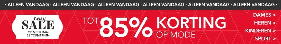 Wehkamp Sale mode 85% korting banner