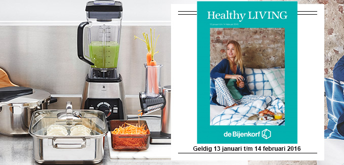 bijenkorf healthy living folder folderacties.nl