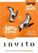 Invito schoenzesdaagse folder geldig 19 t/m 25 oktober 2015