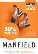 Manfield schoenzesdaagse folder geldig 19 t/m 25 oktober 2015